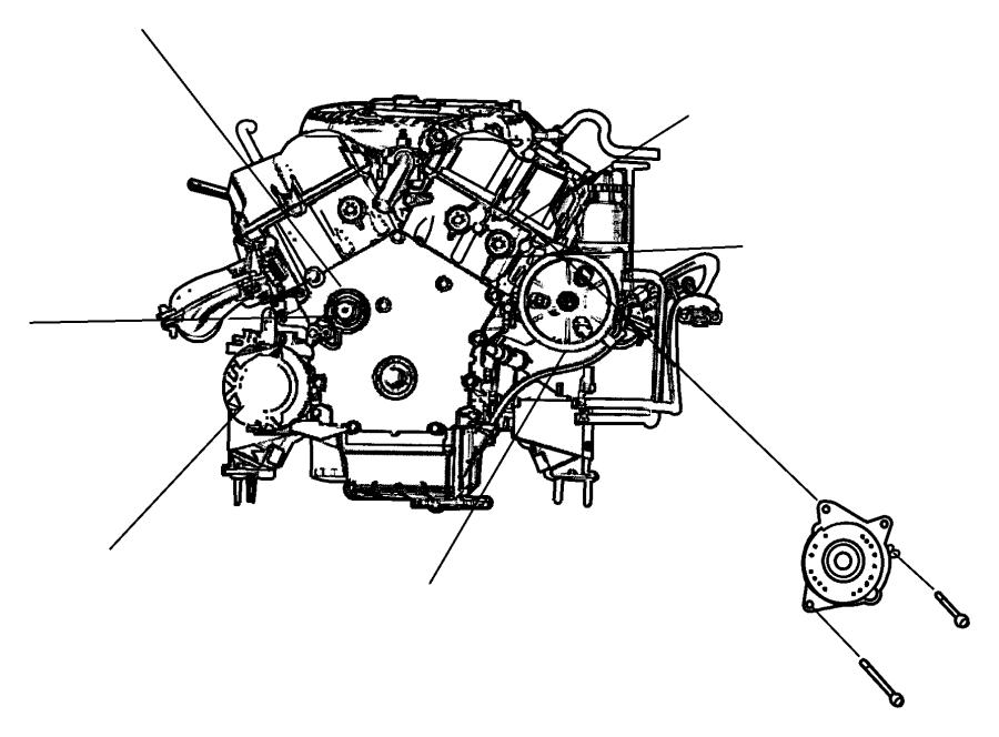 Dodge Magnum Bolt. Hose. Compressor. Oil. Automatic. 2.7