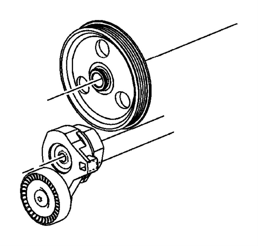 Dodge Neon Tensioner. Belt. Bracket. STEERING. Pump