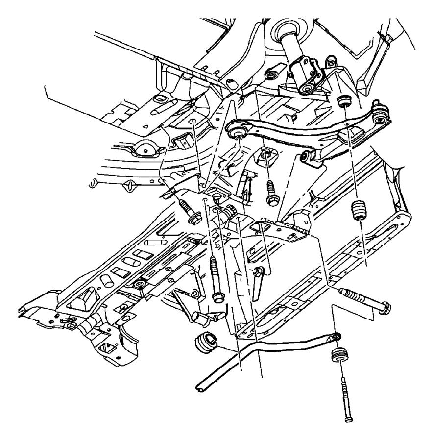 Dodge Neon Suspension Control Arm Bushing. Neon; Front
