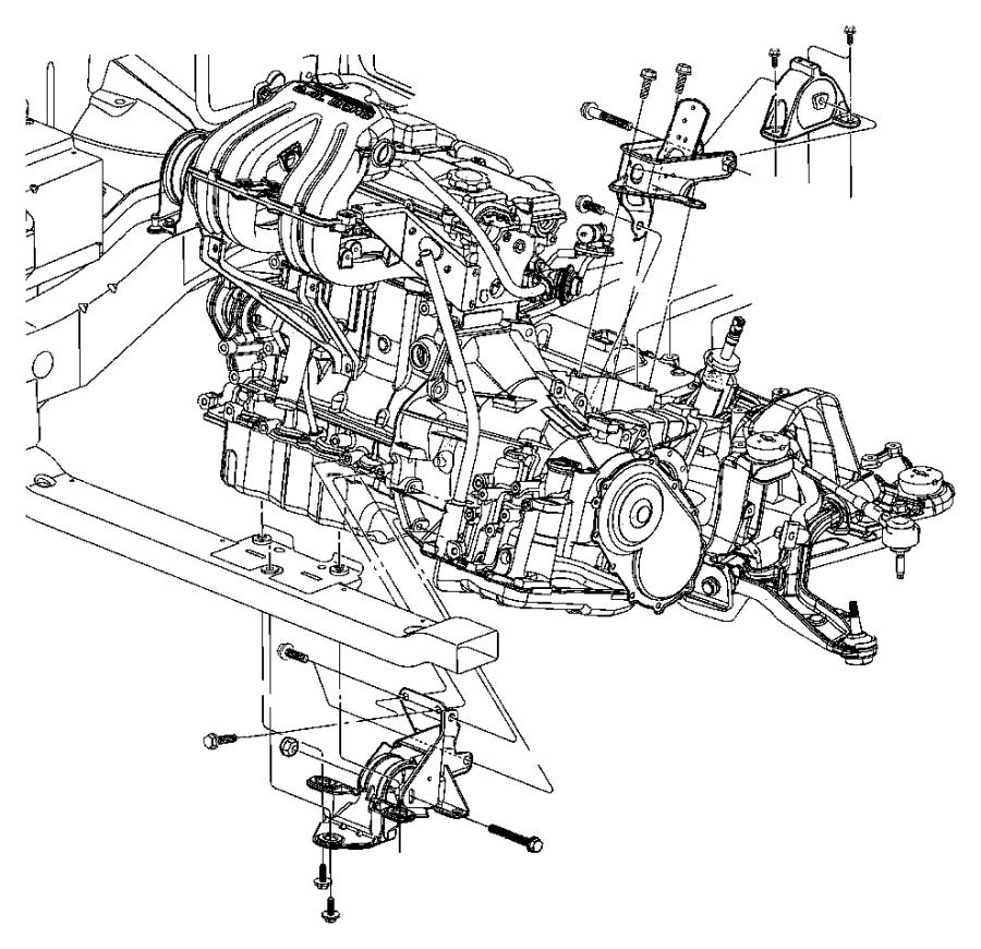 Dodge Grand Caravan Automatic Transmission Mount Bracket