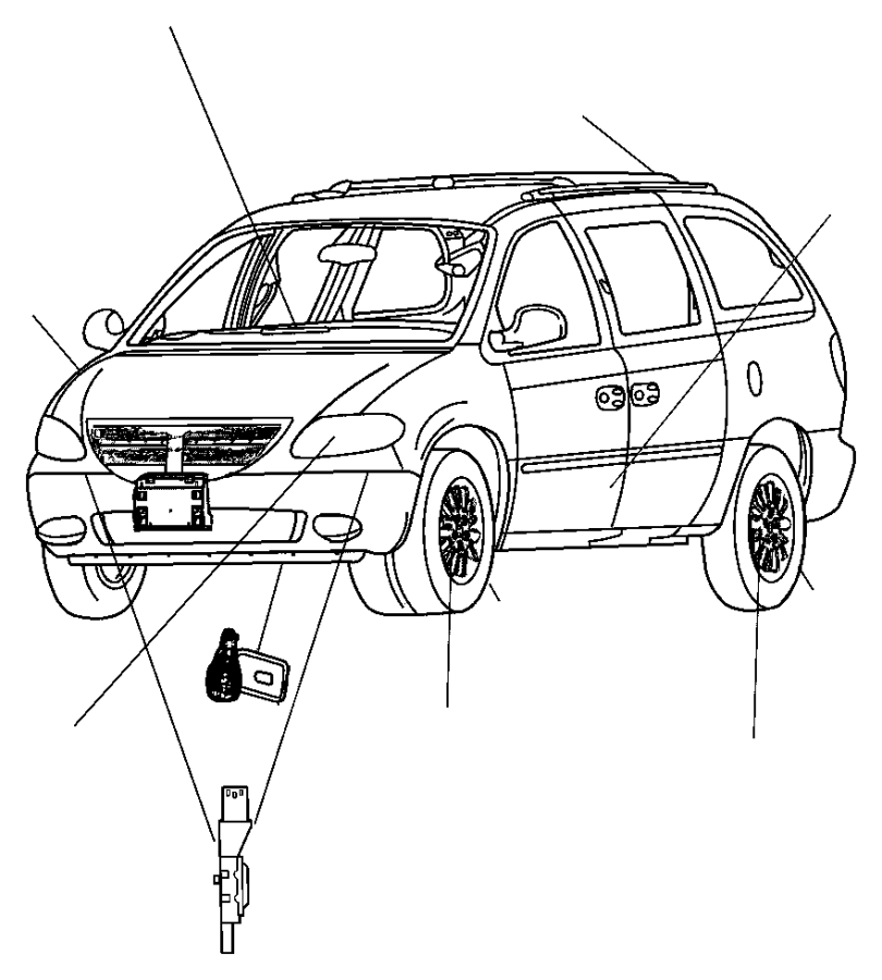Dodge Grand Caravan Air Bag Impact Sensor (Front