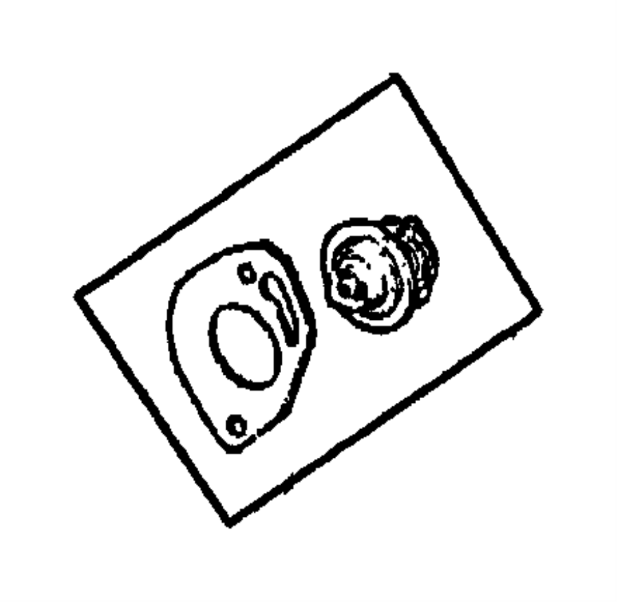 Jeep Wrangler Engine Coolant Thermostat. 2.4 LITER. 4