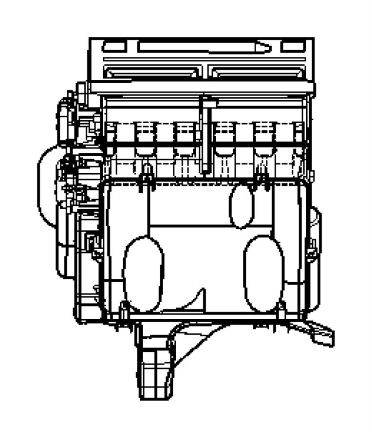 Dodge Grand Caravan Cabin Air Intake Duct. FRONT, all