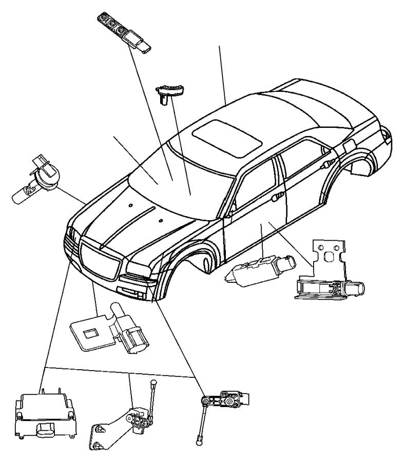 Chrysler 300 Headlight Level Sensor. Headlamp, rear