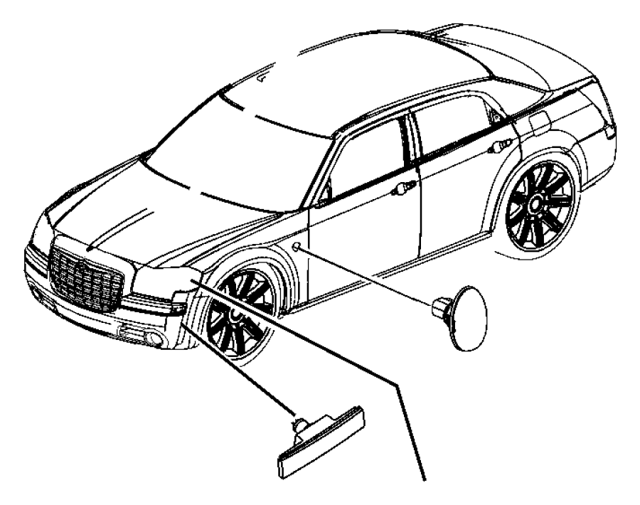 Chrysler 300 Headlight. HID, w/h'lamp leveling