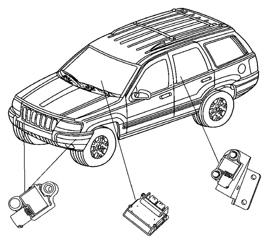 Jeep Grand Cherokee Sensor. Impact. Air. Bag. 2.4 liter. 3