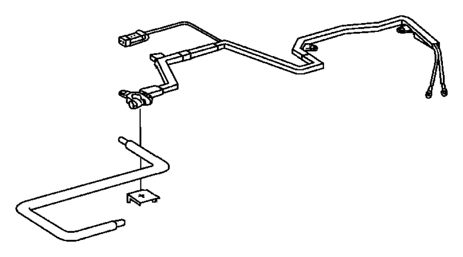 Dodge SPRINTER 3500 Battery Cable Terminal End. Positive