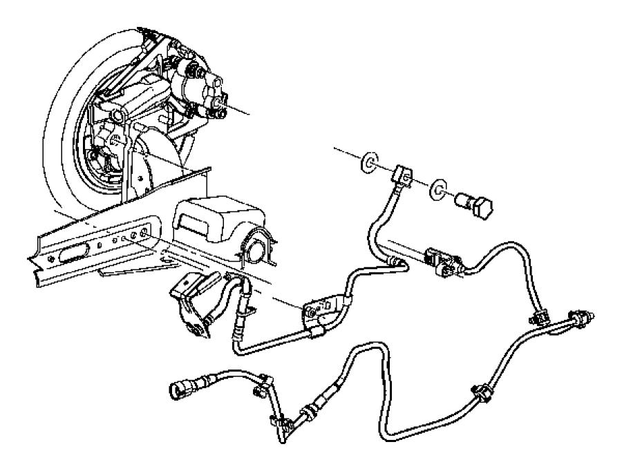 Chrysler PT Cruiser Abs wheel speed sensor (rear