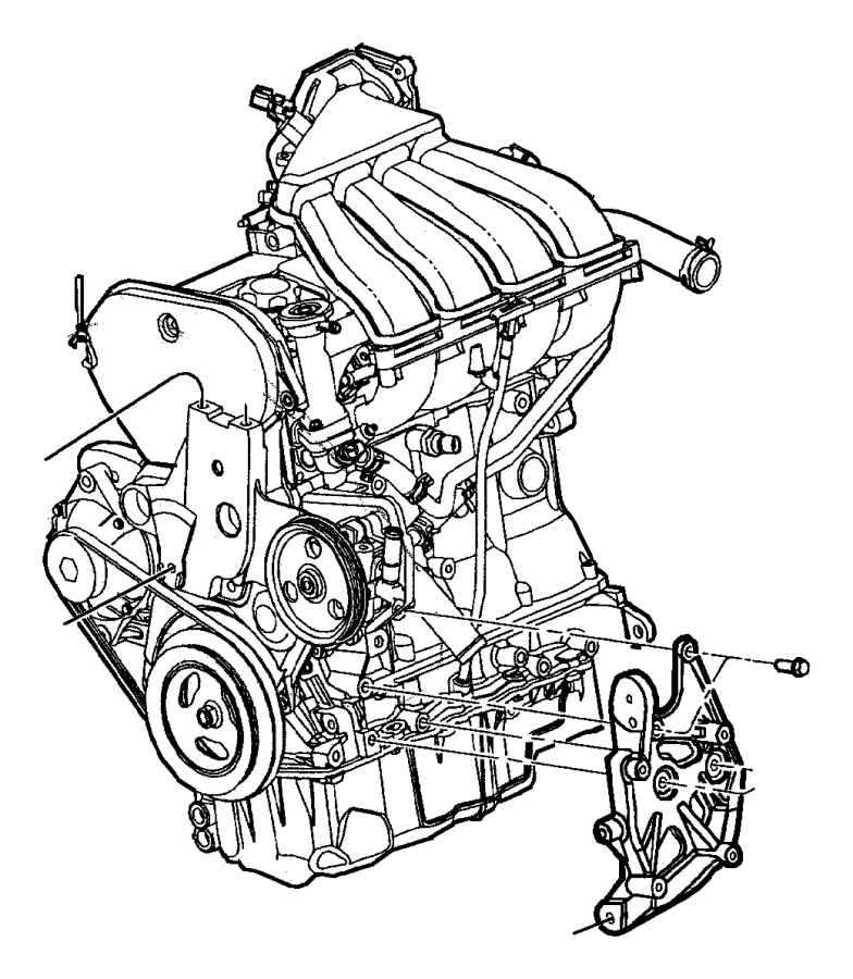 Chrysler PT Cruiser Bracket. Mount. Engine. Transmission