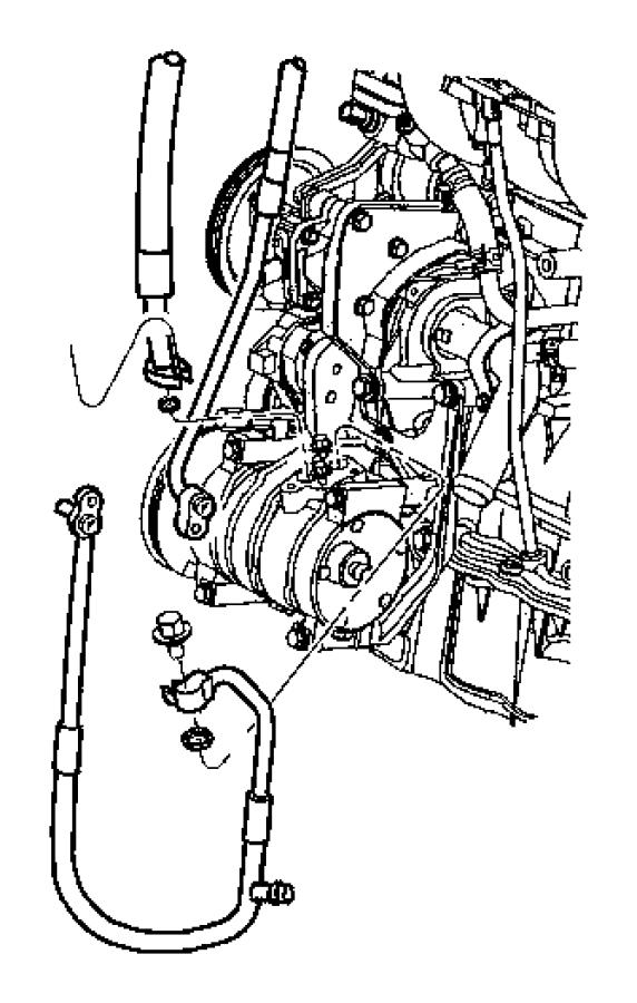 Chrysler PT Cruiser A/c refrigerant discharge hose