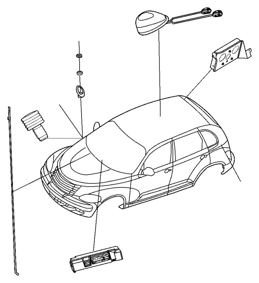 Dodge Grand Caravan Gps navigation system antenna. 2003-07