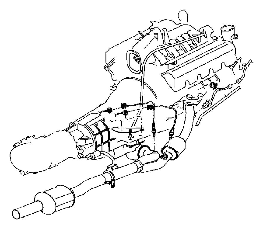 Dodge Dakota Oxygen Sensor. Liter, Right, Emission