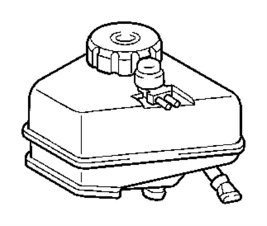 Chrysler Crossfire Brake Master Cylinder. Brake Master