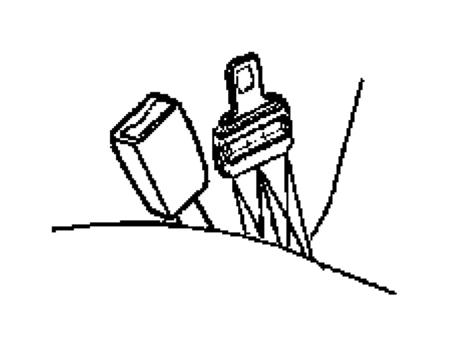 Dodge Dakota Seat Belt Receptacle. CLUB CAB, slate gray