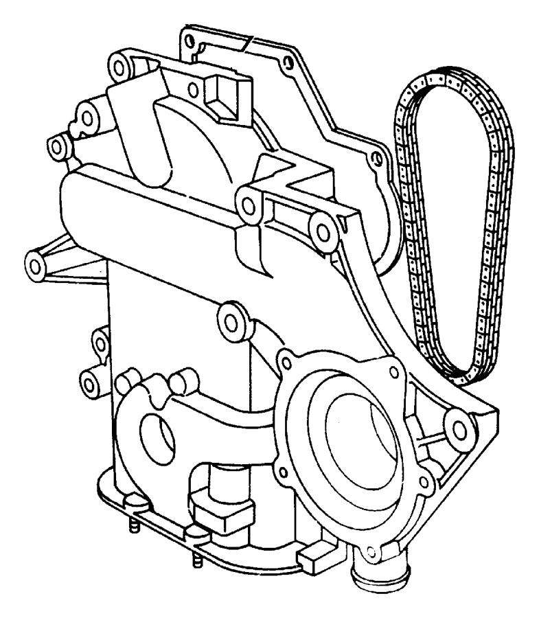 Chrysler Concorde Engine Timing Cover Gasket (Front). 3.3