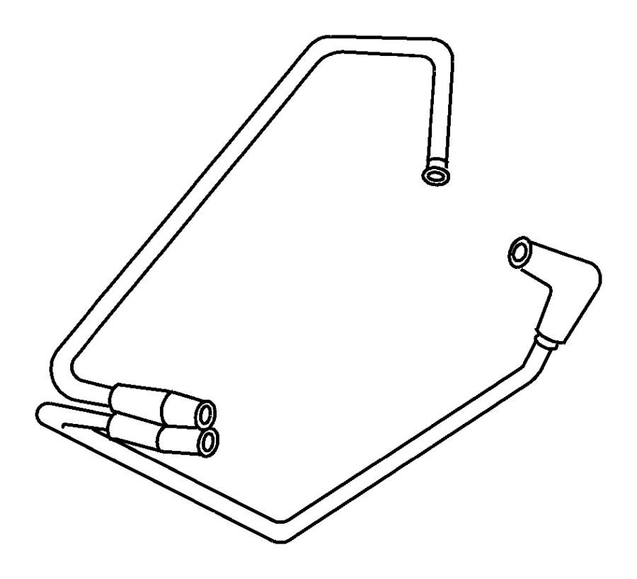 Jeep Wrangler Vacuum Hose. 1997-2002, 4.0 liter
