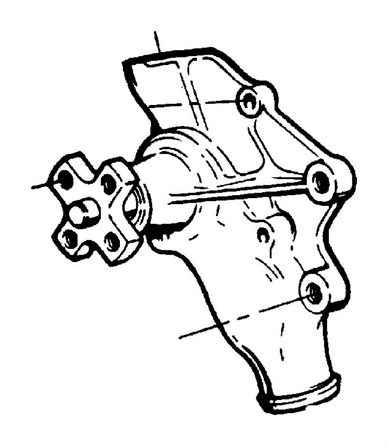 Jeep Grand Cherokee Water. Pump. Engine. Incl.gasket. Main