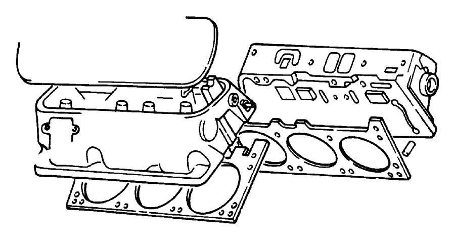 Dodge W150 Engine Valve Cover Gasket. Engine Valve Cover