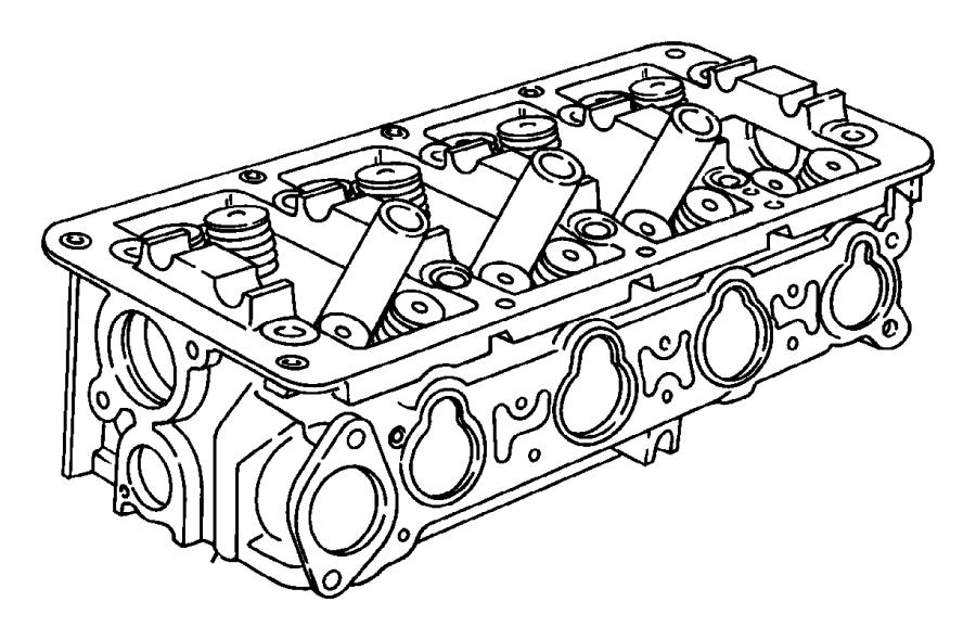 Chrysler Cirrus Engine Cylinder Head. BEARINGS