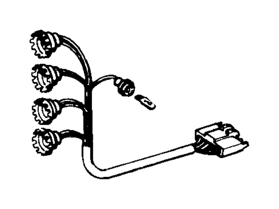 Jeep Grand Cherokee Wire harness. From 2/14/94. LAMPS