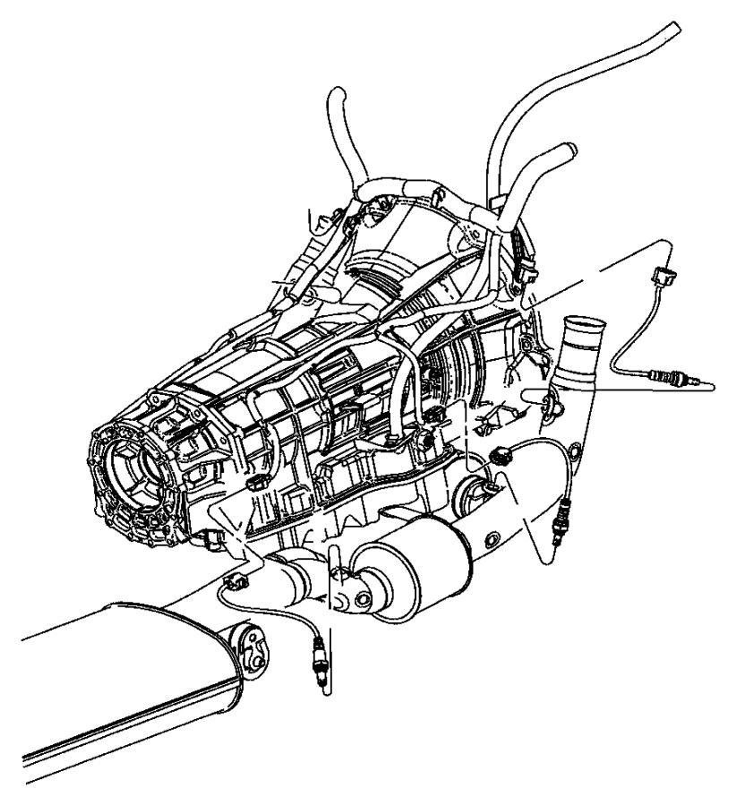 Jeep Grand Cherokee Oxygen Sensor Bracket. 2005, 4.7, 5.7