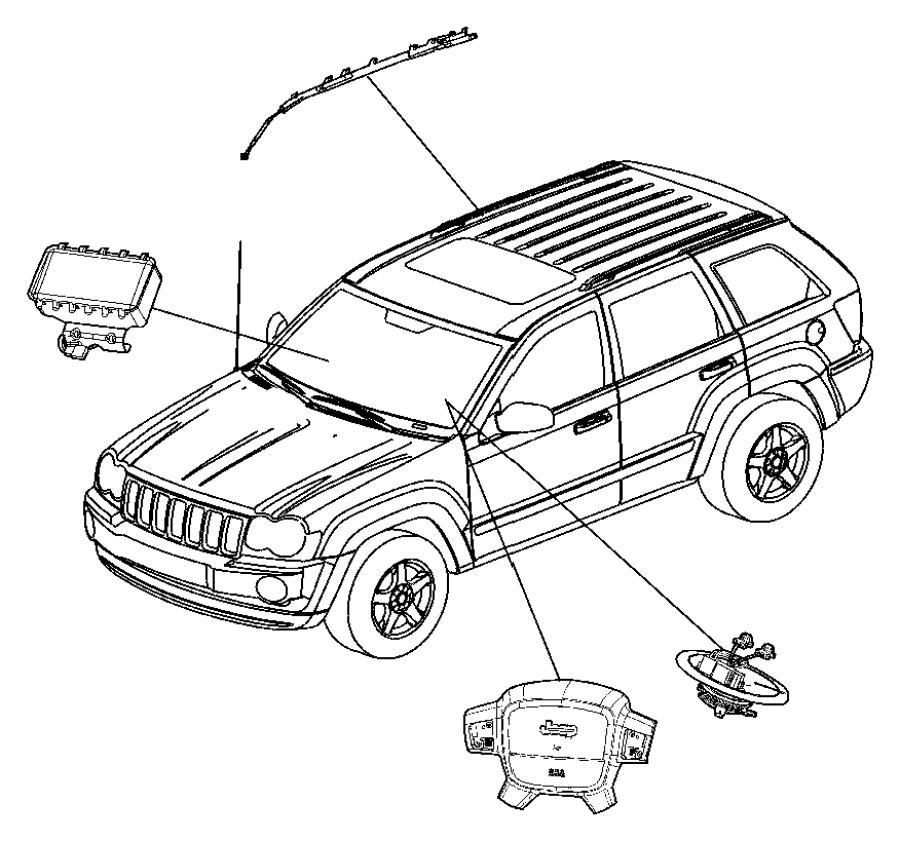 Jeep Grand Cherokee Steering Wheel Air Bag. Inflator