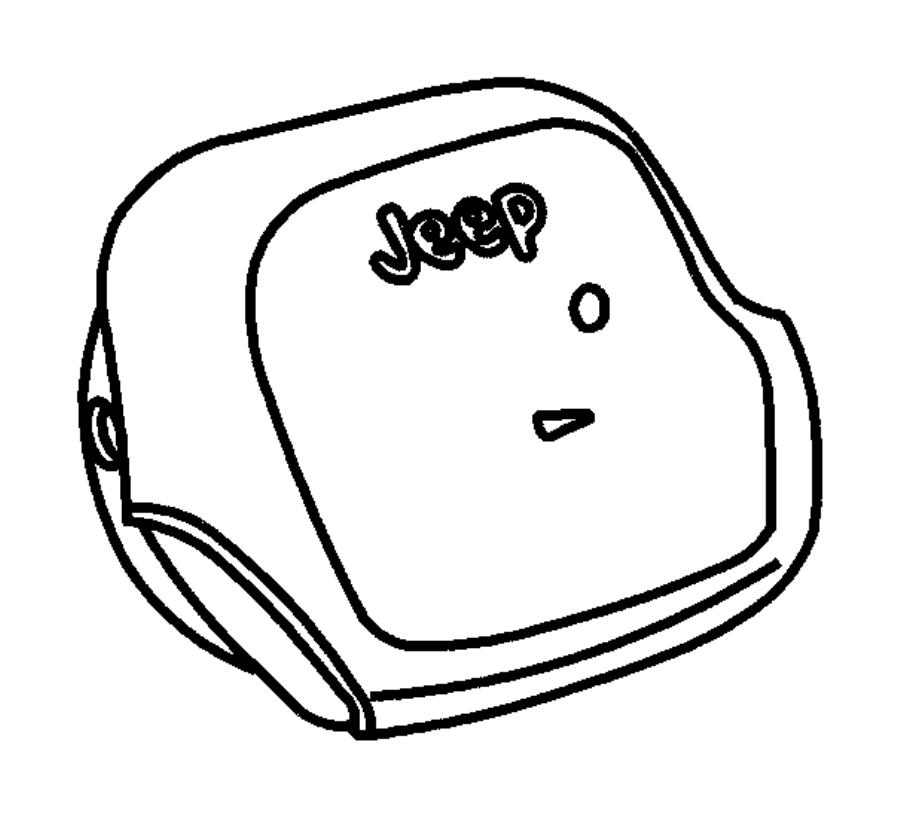 Jeep Wrangler Steering Wheel Air Bag. Inflator, Module