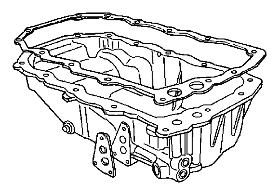 Chrysler PT Cruiser Engine Oil Pan Gasket. Engine Oil Pan