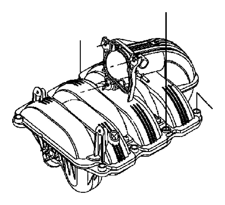 Jeep Liberty Engine Intake Manifold. LITER, Grand, FCA