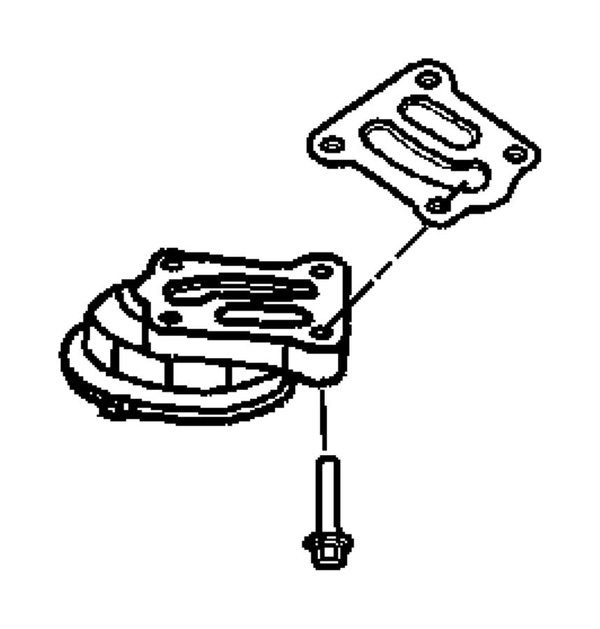 Dodge Charger Engine Oil Filter Adapter Gasket. Coolant