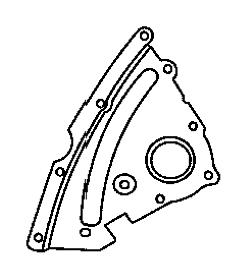 Dodge Magnum Engine Timing Cover. Lower, Outer, BEARINGS