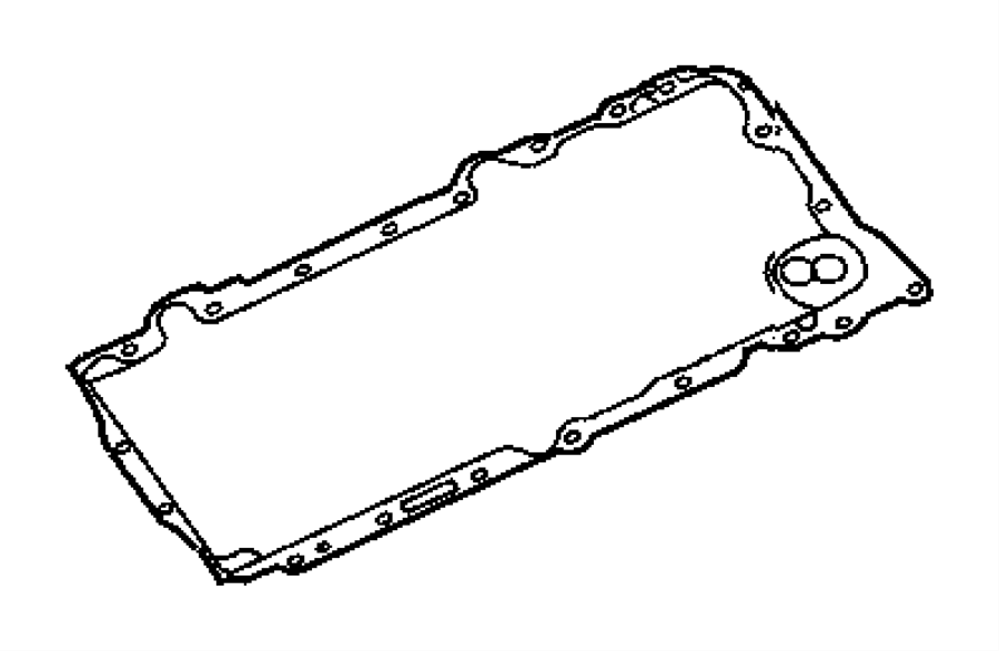 Chrysler 300 Engine Oil Pan Gasket. Engine Oil Pan Gasket
