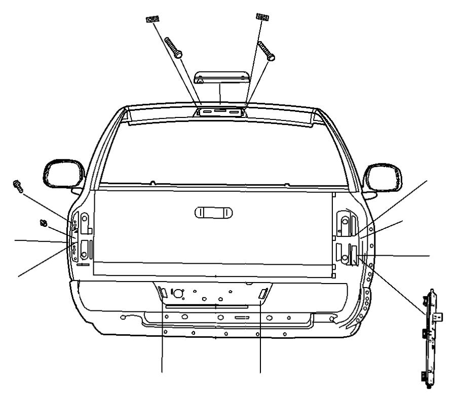 Dodge Ram 1500 Tail Light Socket. 2003-07. 2006-07. MEGA