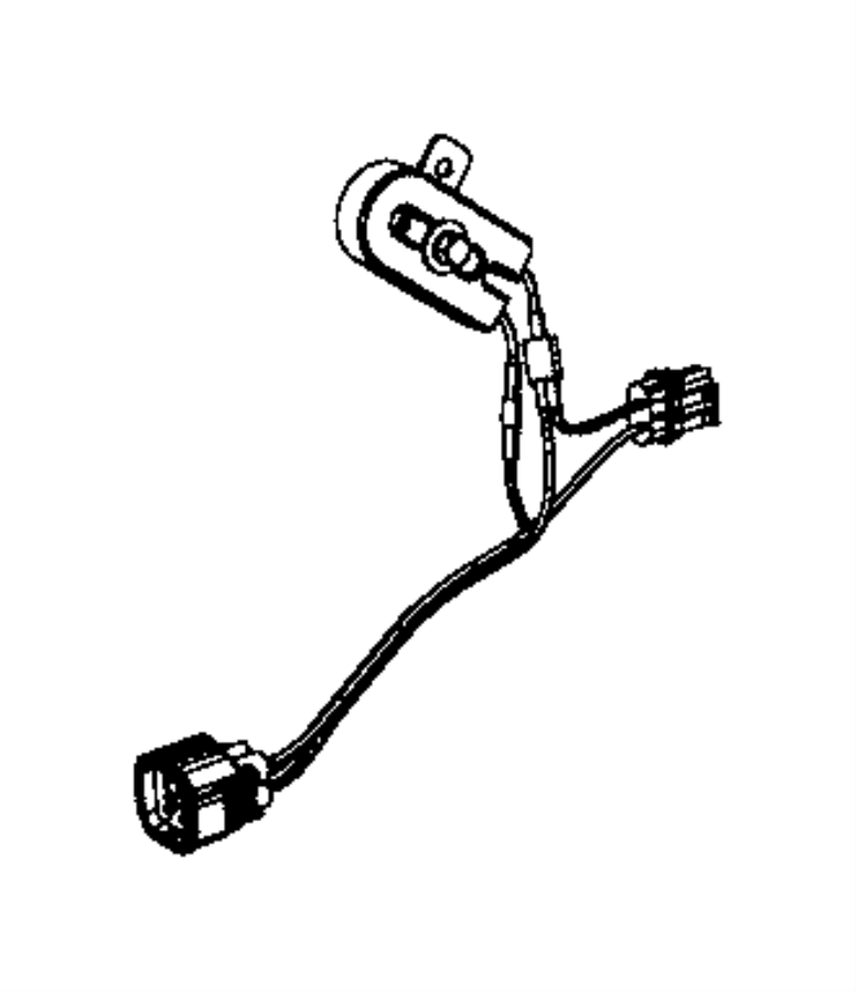 Jeep Commander Heater harness. HVAC System Wiring Harness
