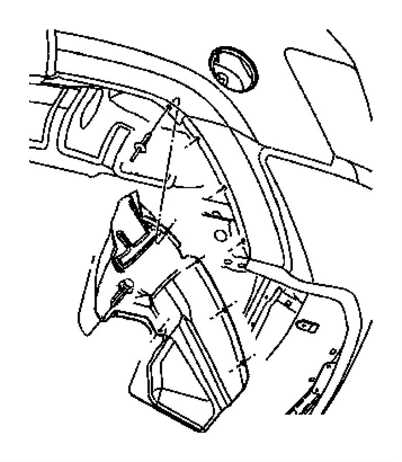 Jeep Grand Cherokee Quarter Panel Splash Shield (Rear