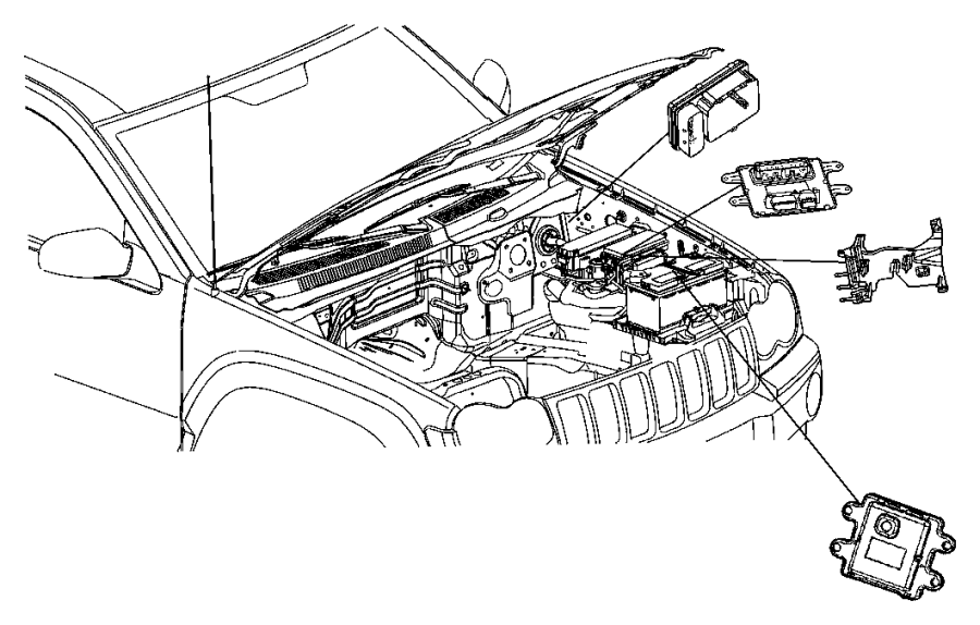 Jeep Grand Cherokee Abs control module. Light, repair