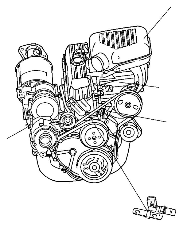 Jeep Wrangler Engine Camshaft Position Sensor. Sensor