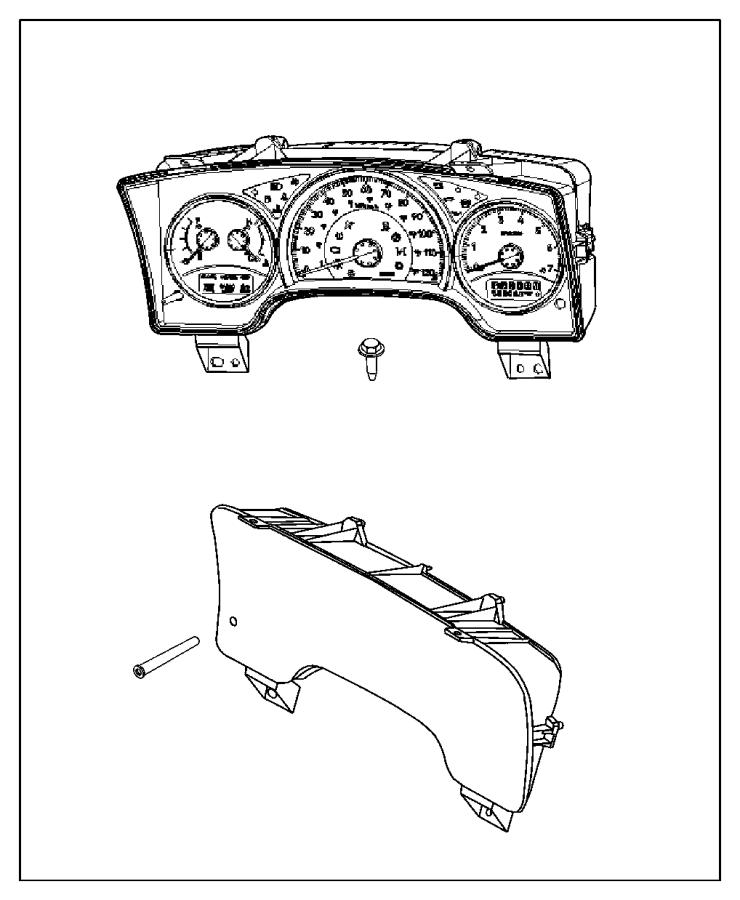 Dodge Dakota Instrument Cluster. INSTRUMENT CLUSTER