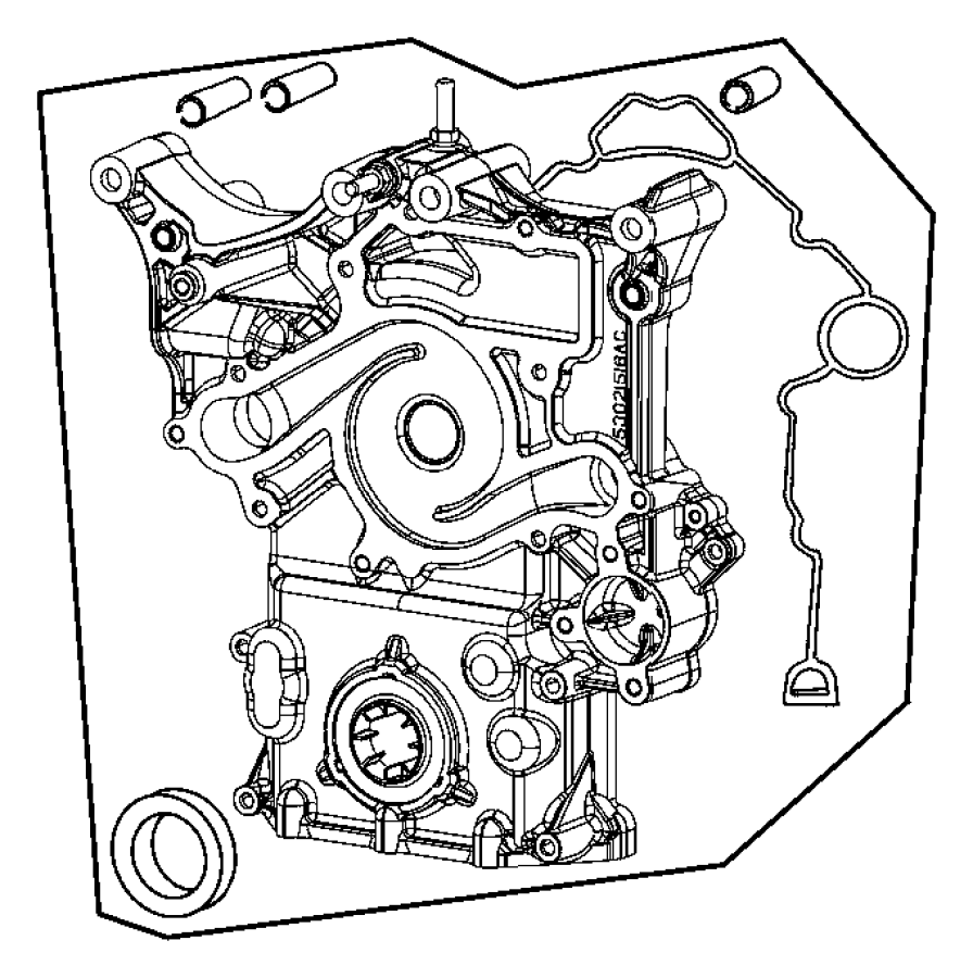 Jeep Commander Engine Timing Cover. LITER, BEARINGS