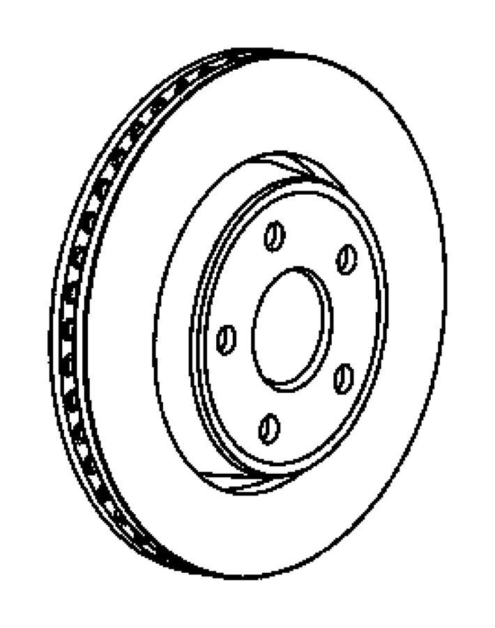 Jeep Grand Cherokee Disc Brake Rotor. FRONT, Left, Make