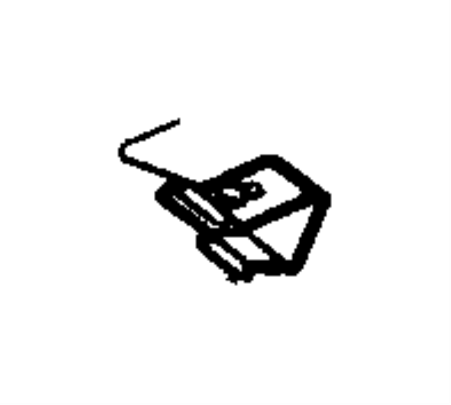Jeep Wrangler Hood Prop Rod Clip. Support, Retainer, FCA