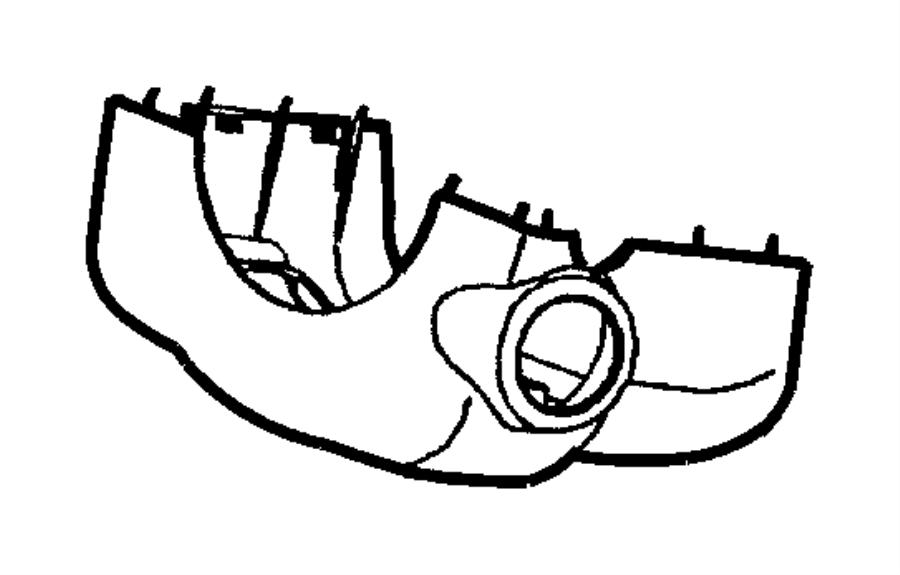 Chrysler 300M Steering Column Cover. All Models; Column