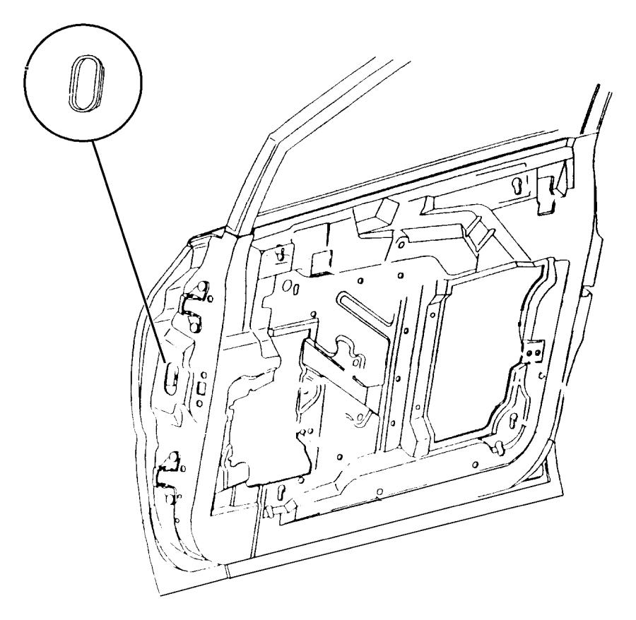 Dodge Grand Caravan Door Lock Operating Rod. I/s handle to