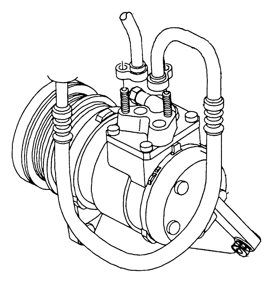 Chrysler Town & Country A/c refrigerant hose. Liter
