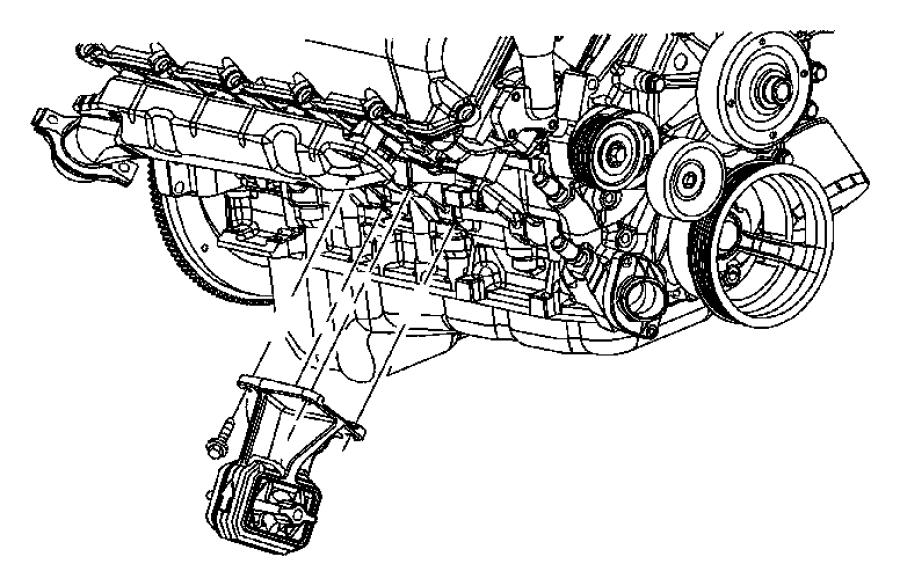 Dodge Ram 1500 Engine Mount. Left, BEARINGS, LITER