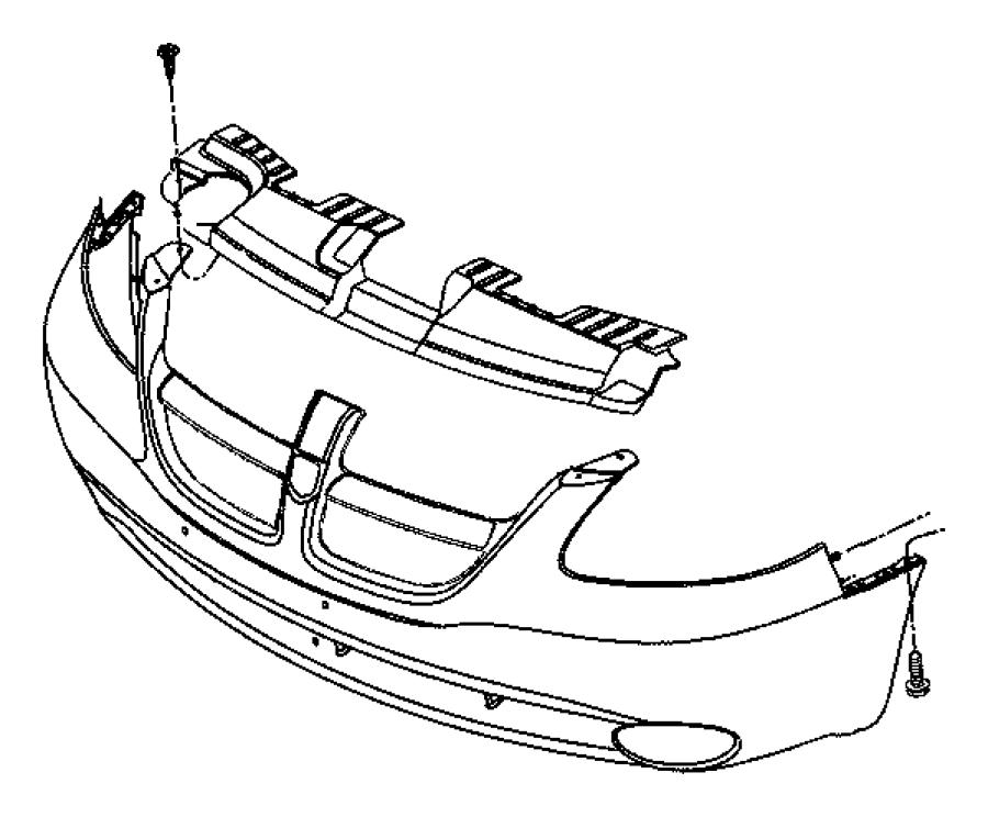 Dodge Grand Caravan Bumper Impact Absorber (Front