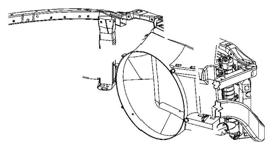 Dodge Ram 3500 Engine Cooling Fan Shroud. Make, CAB