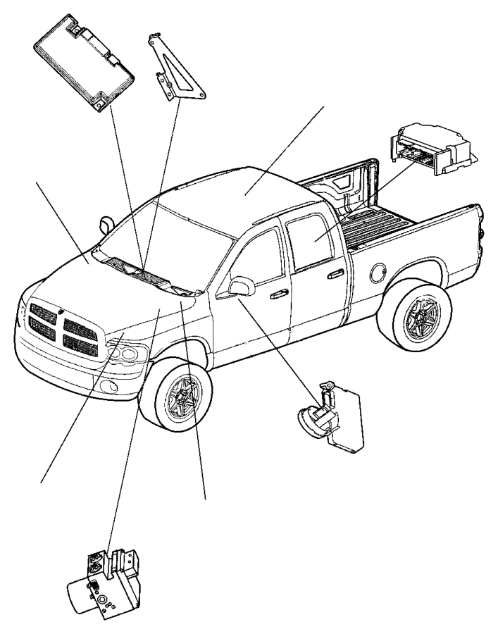 Dodge Ram 1500 Fuse Box. 5.7 liter. MEGA CAB, 5.7 liter