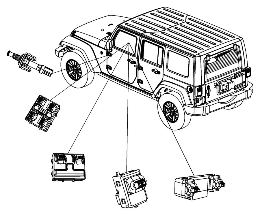Jeep Wrangler Door Window Switch. Door Window Switch