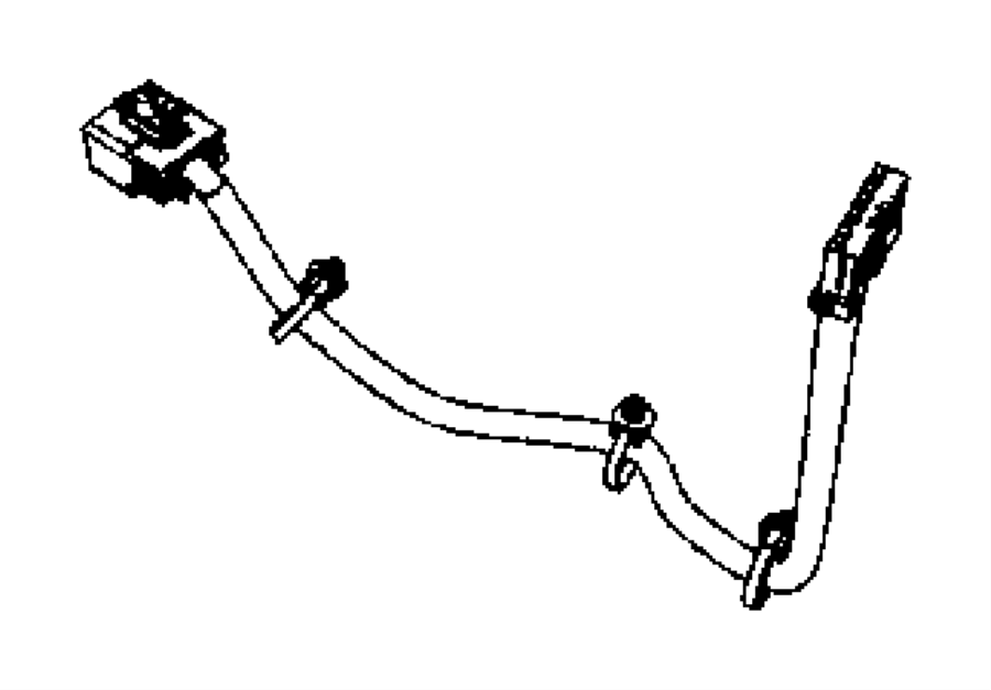 Jeep Wrangler Console Wiring Harness. FULL SIZE, 2007-10